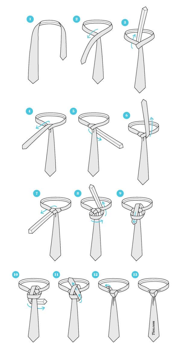 cara memakai dasi unik dan keren trinity