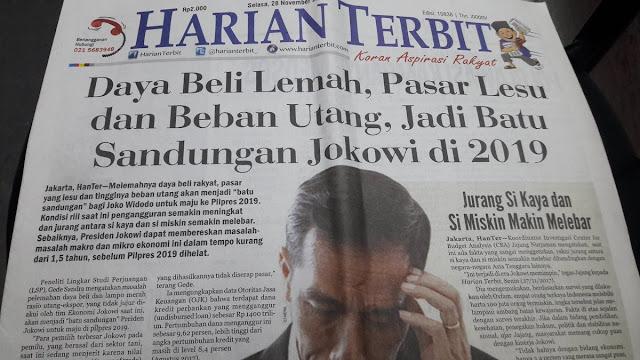 Daya Beli Lemah, Pasar Lesu dan Beban Utang Jadi Batu Sandungan Jokowi di 2019