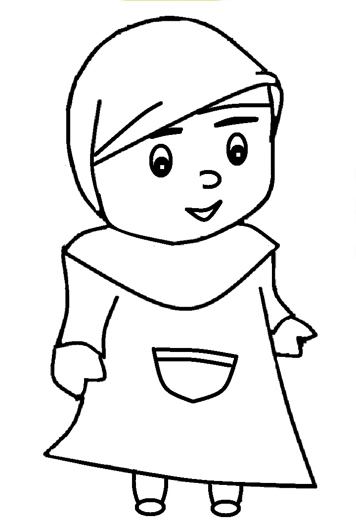 10 Gambar Mewarnai Anak Muslim Untuk Anak PAUD dan TK