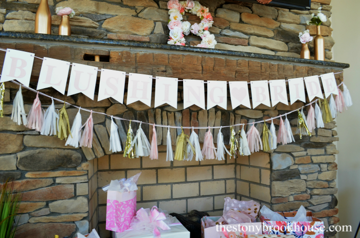 DIY Blushing Bride Banner