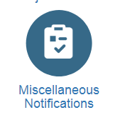Miscellaneous Notifications