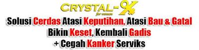 cara mengobati keputihan dengan crystal x