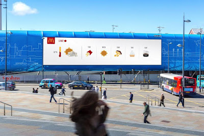 McDonald's Weather Reactive Outdoor Advertisement