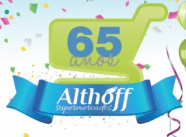 Promoção Althoff Supermercados 2017 Aniversário 65 Anos