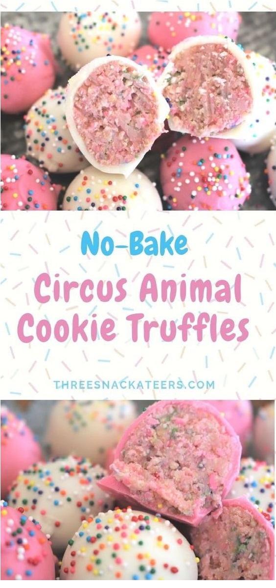 No-Bake Circus Animal Cookie Truffles Recipe