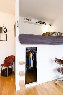 menemukan berbagai solusi untuk menghemat ruang adalah suatu hal yang penting 60 Desain Kamar Tidur Dengan Lemari untuk Kamar Sempit