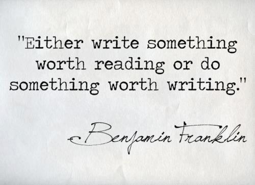 benjamin franklin quote, writing,