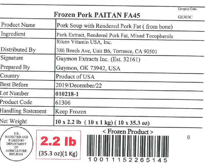 Penn State Food Safety Blog: Pork Extract Broth Recalled for