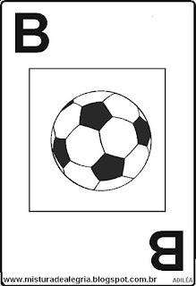 Baralho alfabético letra B