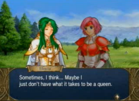 Elincia Fire Emblem: Radiant Dawn bad queen.