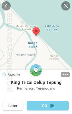 Waze Lokasi King Trizai Celup Tepung Penarik