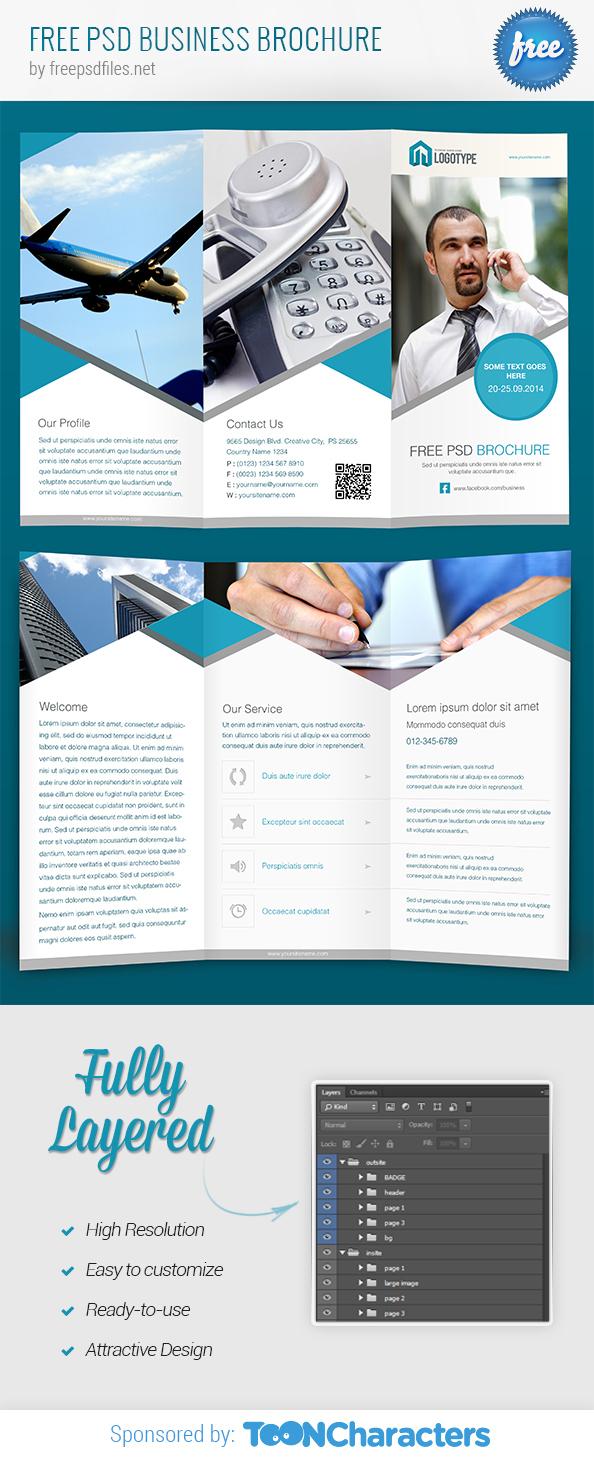 بروشور بصيغة psd  للتصميمات الدعائية المختلفة   Business Brochure