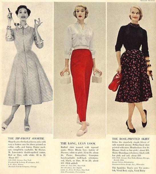 vestimentas dos anos 50