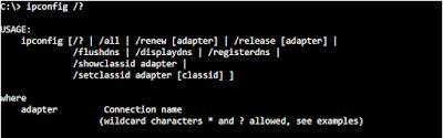 """Referensi Perintah """"ipconfig"""" di MS-DOS"""