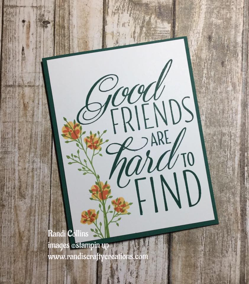 randi s crafty creations making friendship card with some my new