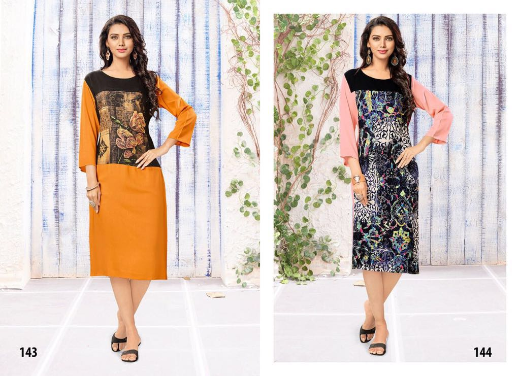 Melodies – Latest New Collection Rayon Digital Printed Kurti