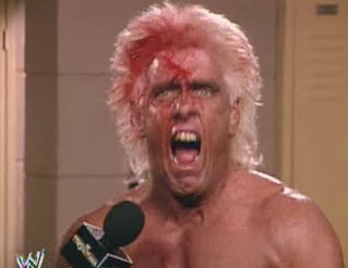 WWF / WWE: WRESTLEMANIA 8 - The Nature Boy Ric Flair after his defeat at the hands of Randy Savage