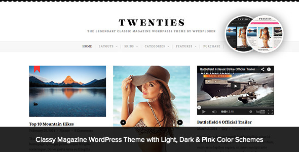 Twenties - Clean, Responsive Blog WordPress Theme Free Download