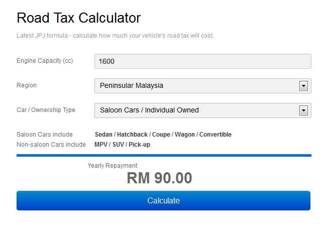 How To Calculate Vehicle S Road Tax And Insurance Cost Practicable