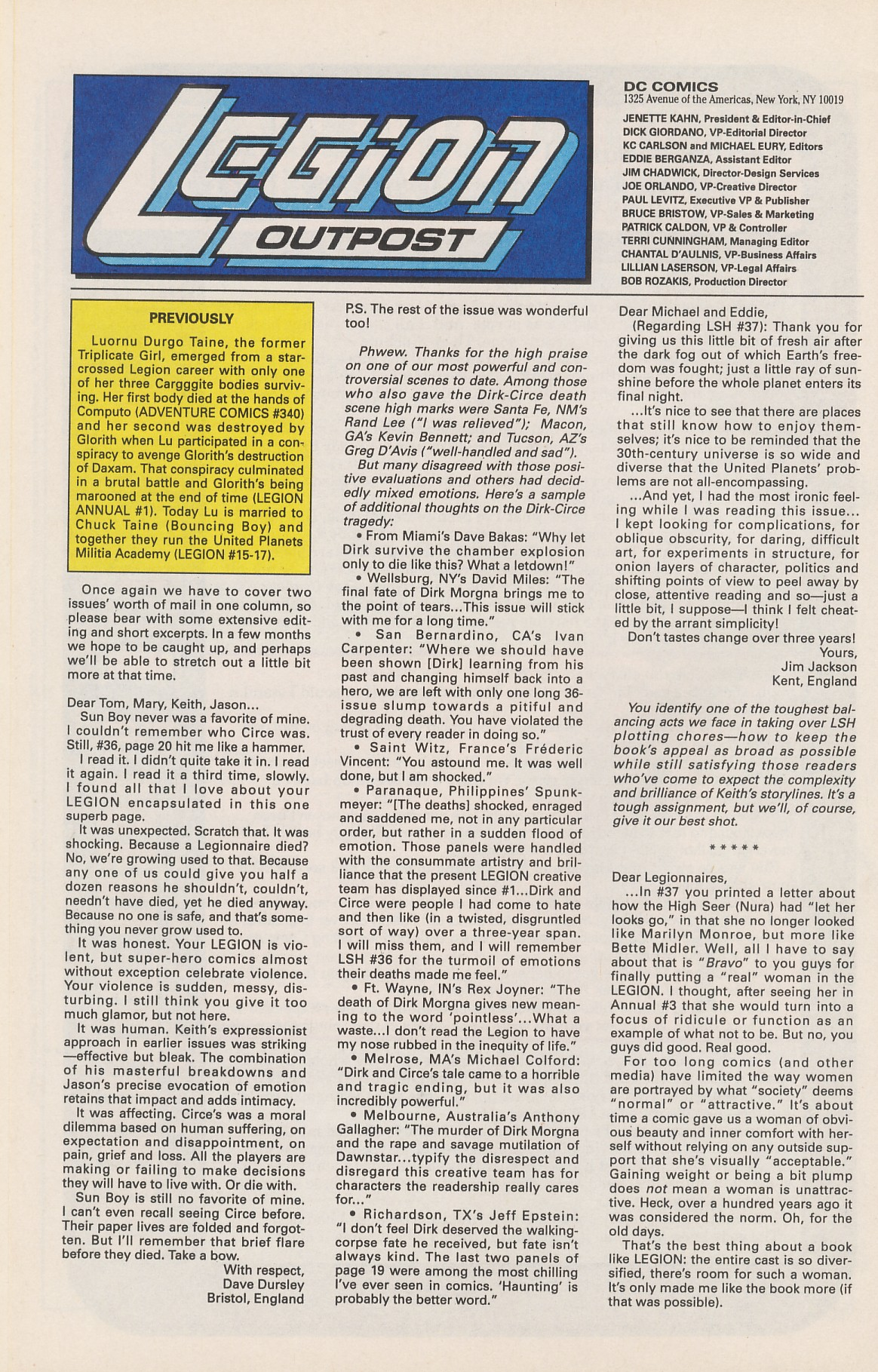 Legion of Super-Heroes (1989) 42 Page 31