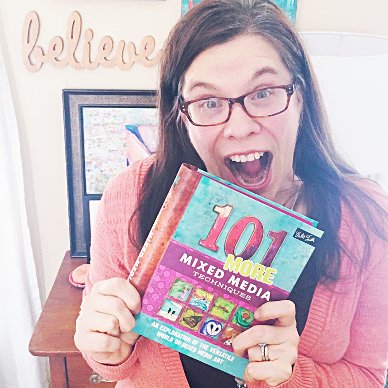 published author 101 more mixed media techniques book | a much needed update on Heather Greenwood Designs and what Heather's been up to and plans for 2016 blogging.