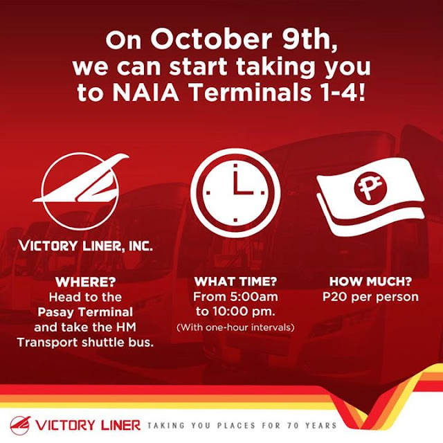 Victory Liner Pasay to Airport Terminals