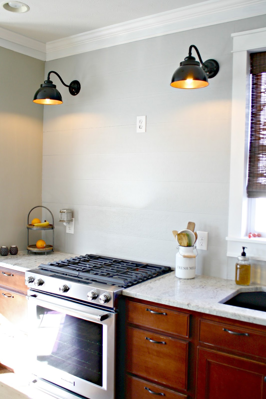 Kitchen Exhaust Vent Cover Black And White Towels A Diy(ish) Wood Hood From Thrifty Decor Chick