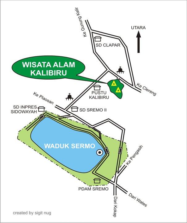 peta arah wisata kalibiru