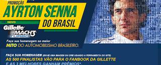 Promoção Ayrton Senna do Brasil - Gillette Mach 3