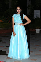 Pujita Ponnada in transparent sky blue dress at Darshakudu pre release ~  Exclusive Celebrities Galleries 071.JPG