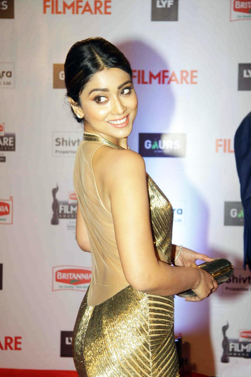 Shriya Saran Photos In Yellow Dress