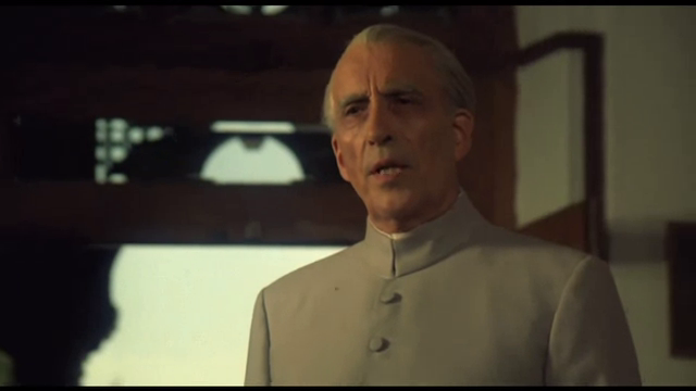 Sir Christopher Lee as Muhammad Ali Jinnah in Jinnah, Directed by Jamil Dehlavi