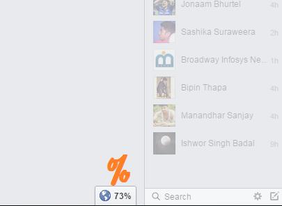 Translation Percent on Facebook