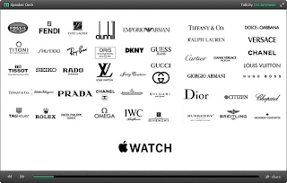 Apple Watch logo compared with a huge range of fashion brands it is designed to match