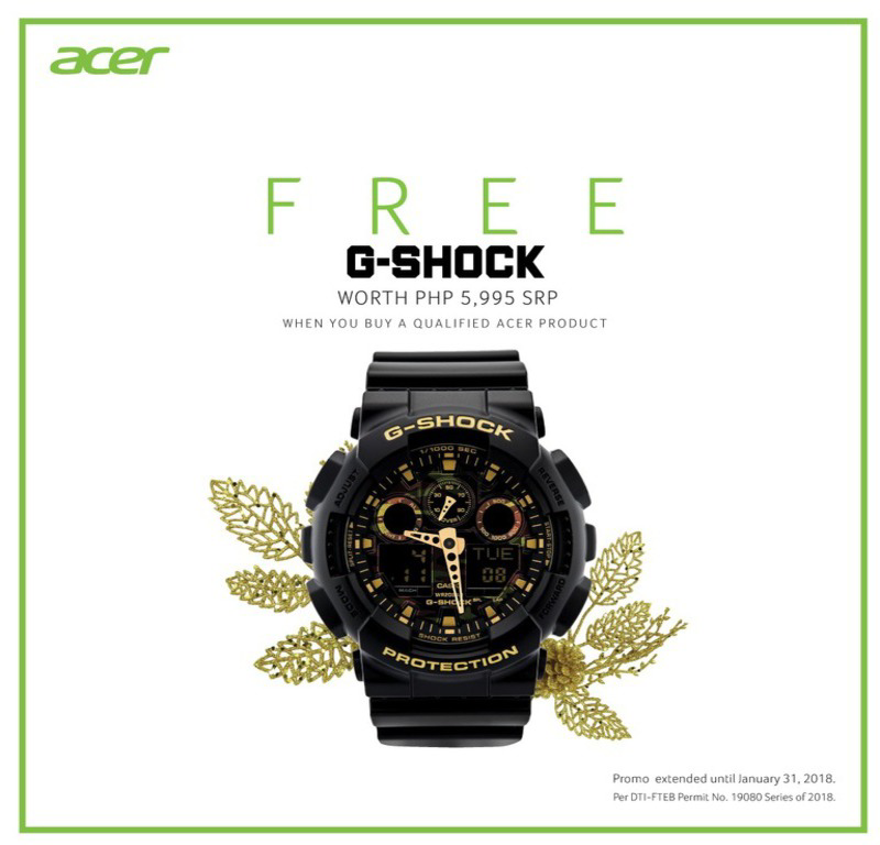 Acer extends the gift-giving season with FREE G-Shock watches and more!