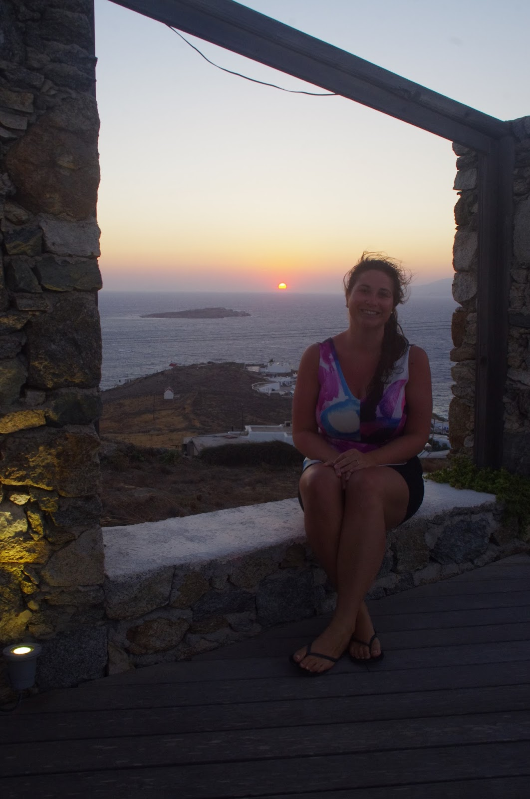 Tharroe of Mykonos Girl at Sunset