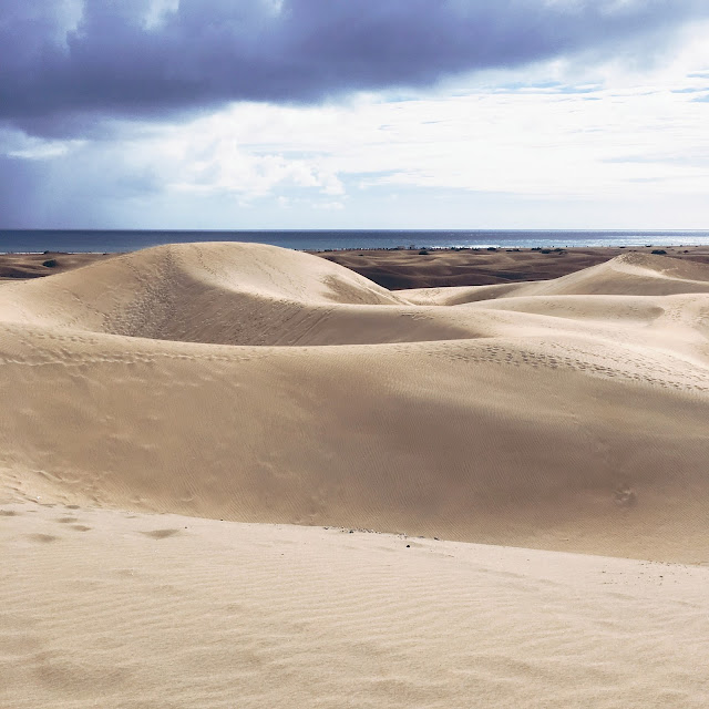 Gran Canaria, Maspalomas, Dünen, Urlaub, GrinseStern