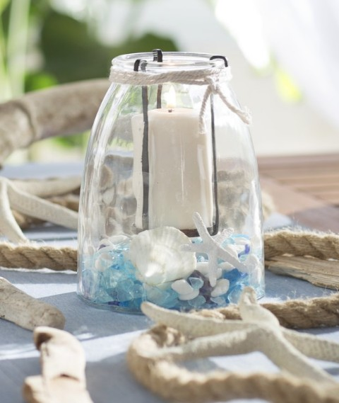 Glass Candle Display Vase