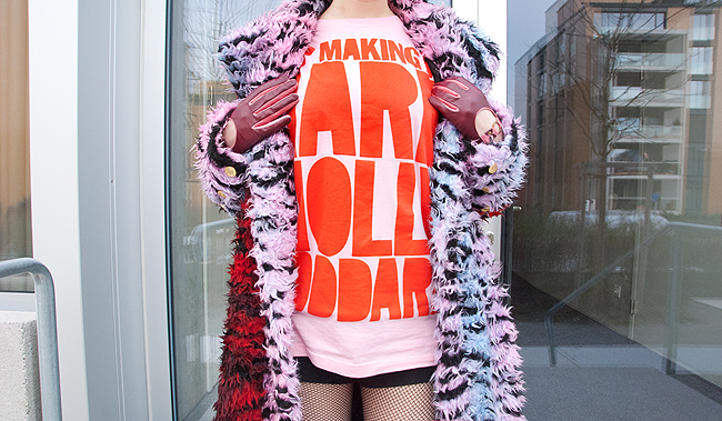 stop making me hard molly goddard, house of holland, slogan tshirt