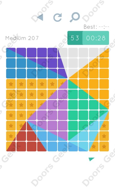 Cheats, Walkthrough for Blocks and Shapes Medium Level 207
