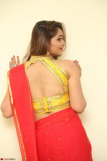 Actress Ashwini in Golden choli Red saree Spicy Pics ~  096.JPG
