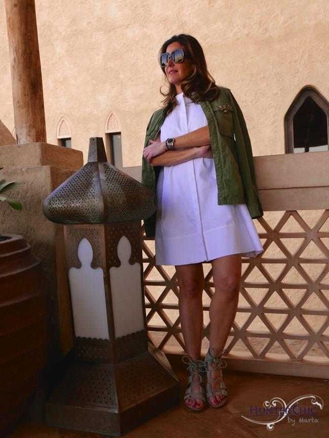 marta halcon de villavicencio-hunterchic by marta-vestido piqué- como llevar un vestido blanco-influencer