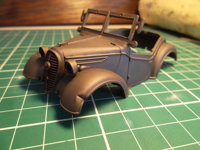 Dented fender of the Kurogane staff car