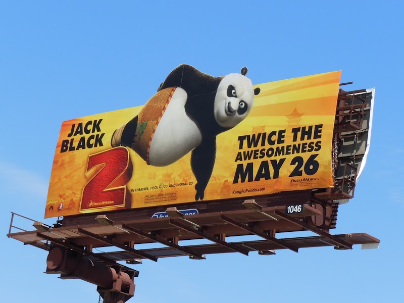 Kung Fu Panda 2 Twice the awesomeness billboard