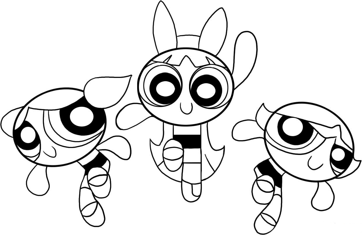 Craftoholic Power Puff Printable Coloring Pages