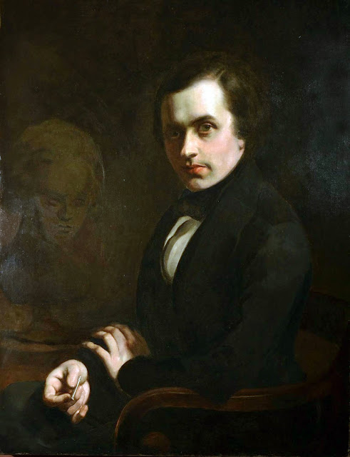 William John Huggins, Self Portrait, Portraits of Painters, Fine arts, John Huggins, portraits of painters blog, Paintings of John Huggins, Painter John Huggins