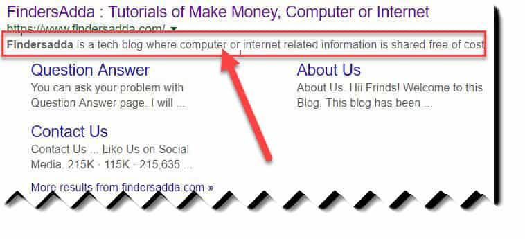 findersadda search description