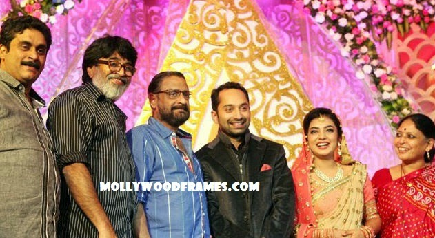 Fahadh-Nazriya marriage reception images