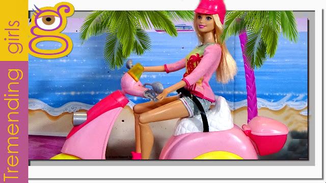 Nueva moto de Barbie Glam Scooter con Chelsea (unboxing)