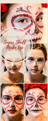 Anleitung Sugar Skull Make up - Day of the Dead und Halloween
